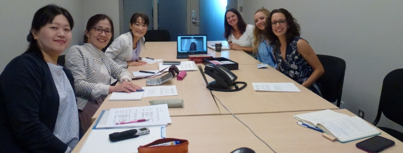 Krystina Lewis and Japanese visitors – research meeting